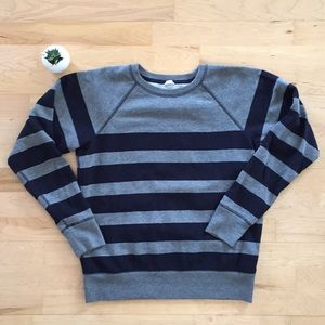 J. Crew striped sweatshirt, size small